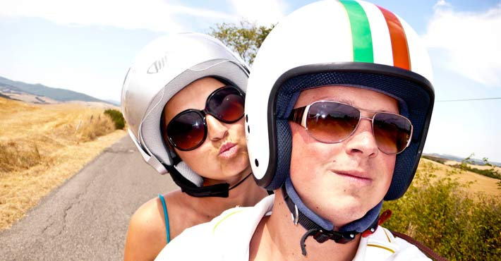 Young couple from Belgium booked Vespa Tour San Gimignano (Day2)