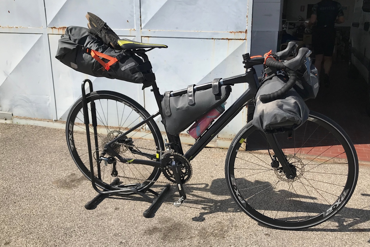 Ortlieb bikepaking set of bags is full and our Gravel is ready to start again heading countryside