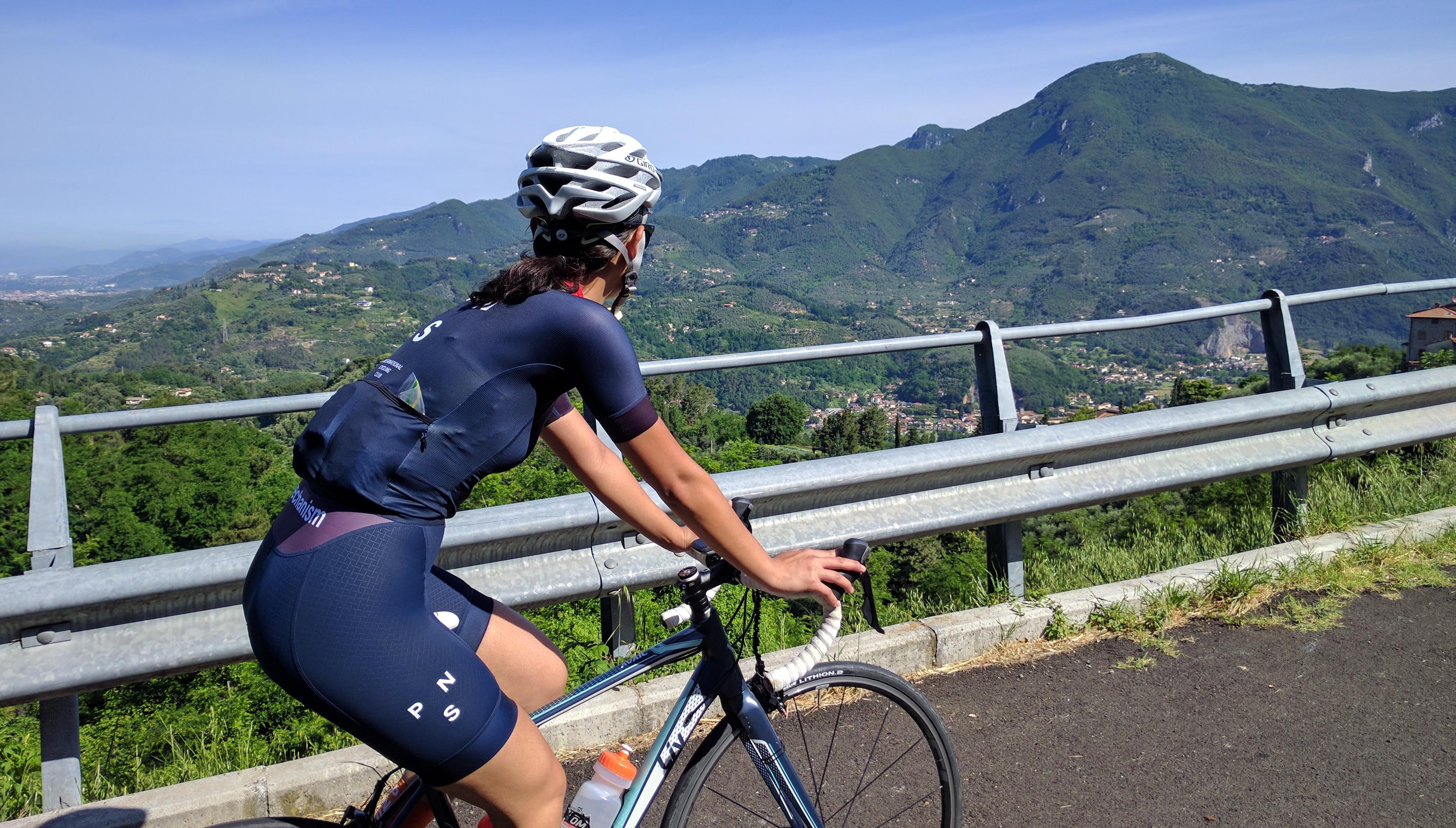 Ms. Pasquale riding Versilia's hills