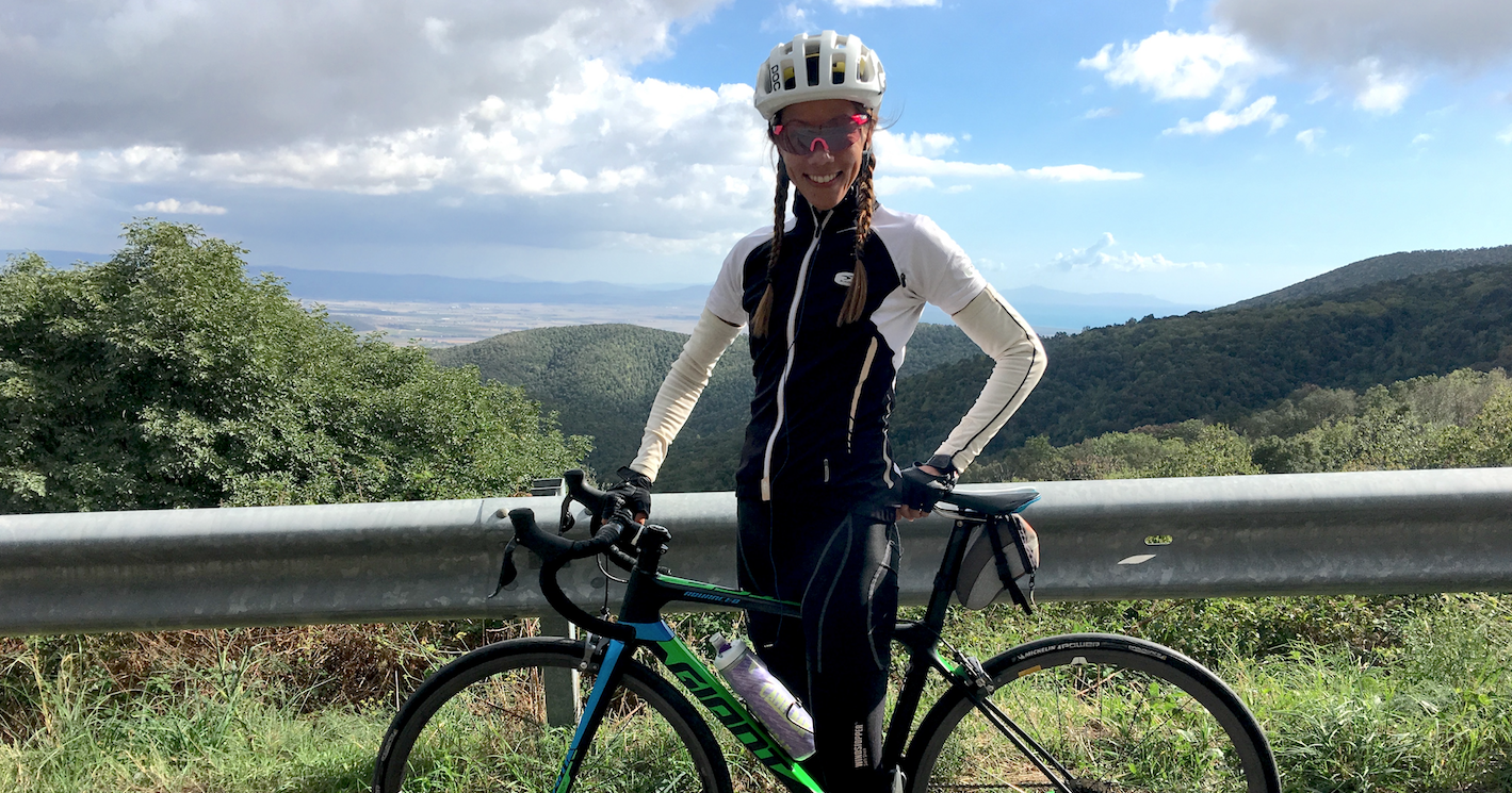 Lizzi from NY riding Maremma hills with TCR Adv. PRO Di2