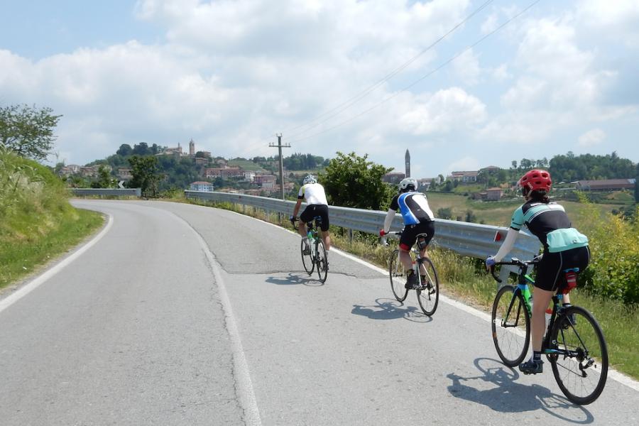 Rich & friends climbing Piemonte hills