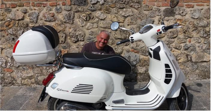 Jörg (& Sabine) from Germany enjoying Toscana sunny summer