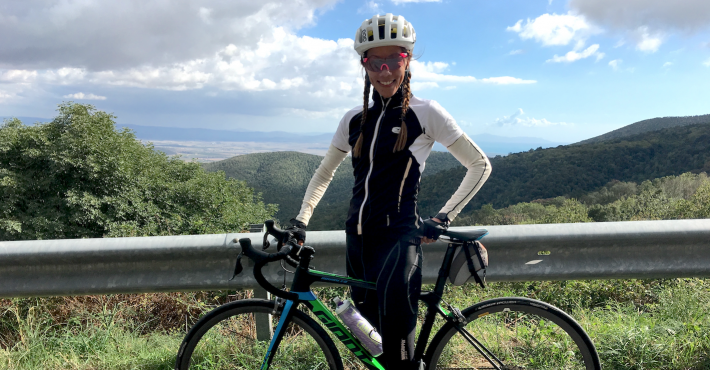 Lizzi from NY riding Maremma hills with TCR Adv. PRO Di2